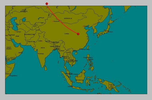 Solar Eclipse 1 Aug 08 Map