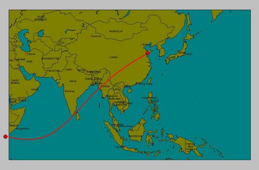 Solar Eclipse 15 Jan 10 Map