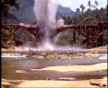 Image result for Bridge on the River Kwai train crash picture