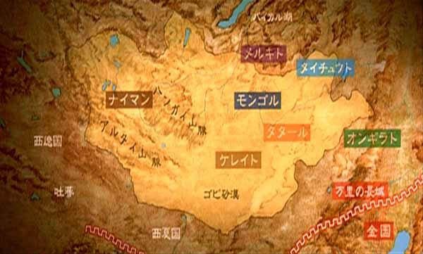 แผนที่ชนเผ่าต่างๆ ในมองโกล