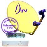 จานดาวเทียม DTV 60ซม. กับ LNB 2หัว