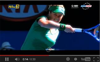 เทนนิส จากกล่อง ดีทีวี รุ่น HD1  ในช่อง HDtv 3