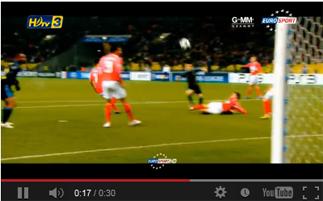 ฟุตบอล จากกล่อง ดีทีวี รุ่น HD1  ในช่อง HDtv 3