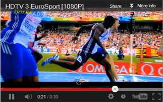 วิ่งแข่ง จากกล่อง ดีทีวี รุ่น HD1  ในช่อง HDtv 3