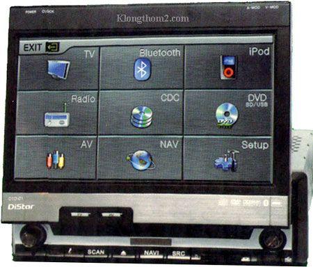 เครื่องเล่นดีวีดีขนาด 1Din Distar D1D-01