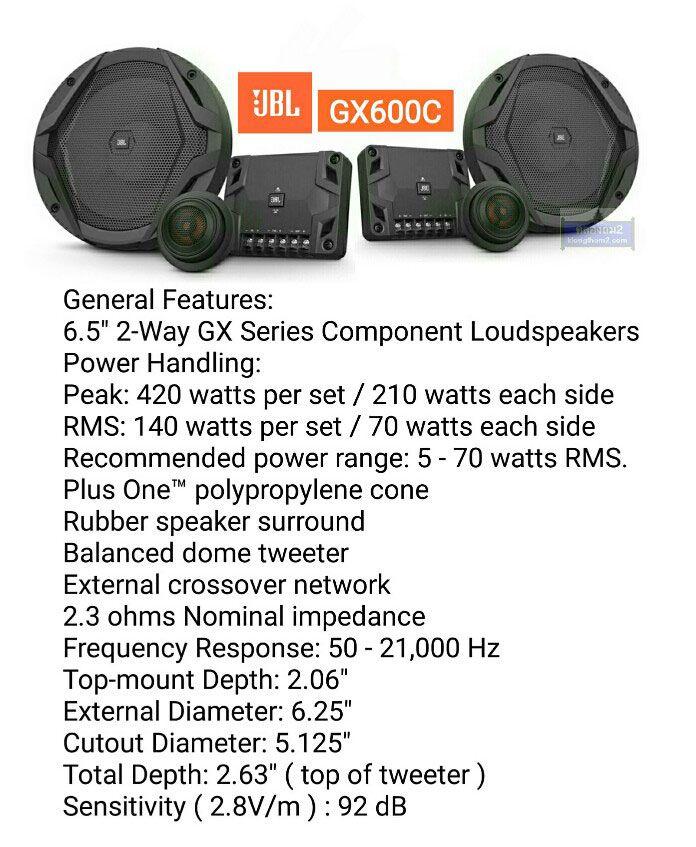 ลำโพงแยกชิ้ขJBL-GX600c