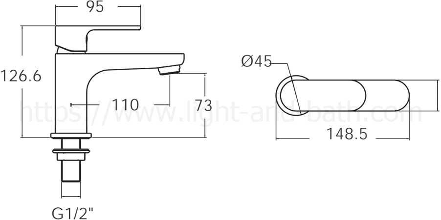 A J55 10 ก๊อกน้ำเย็นอ่างล้างหน้า รุ่น Arc American Standard
