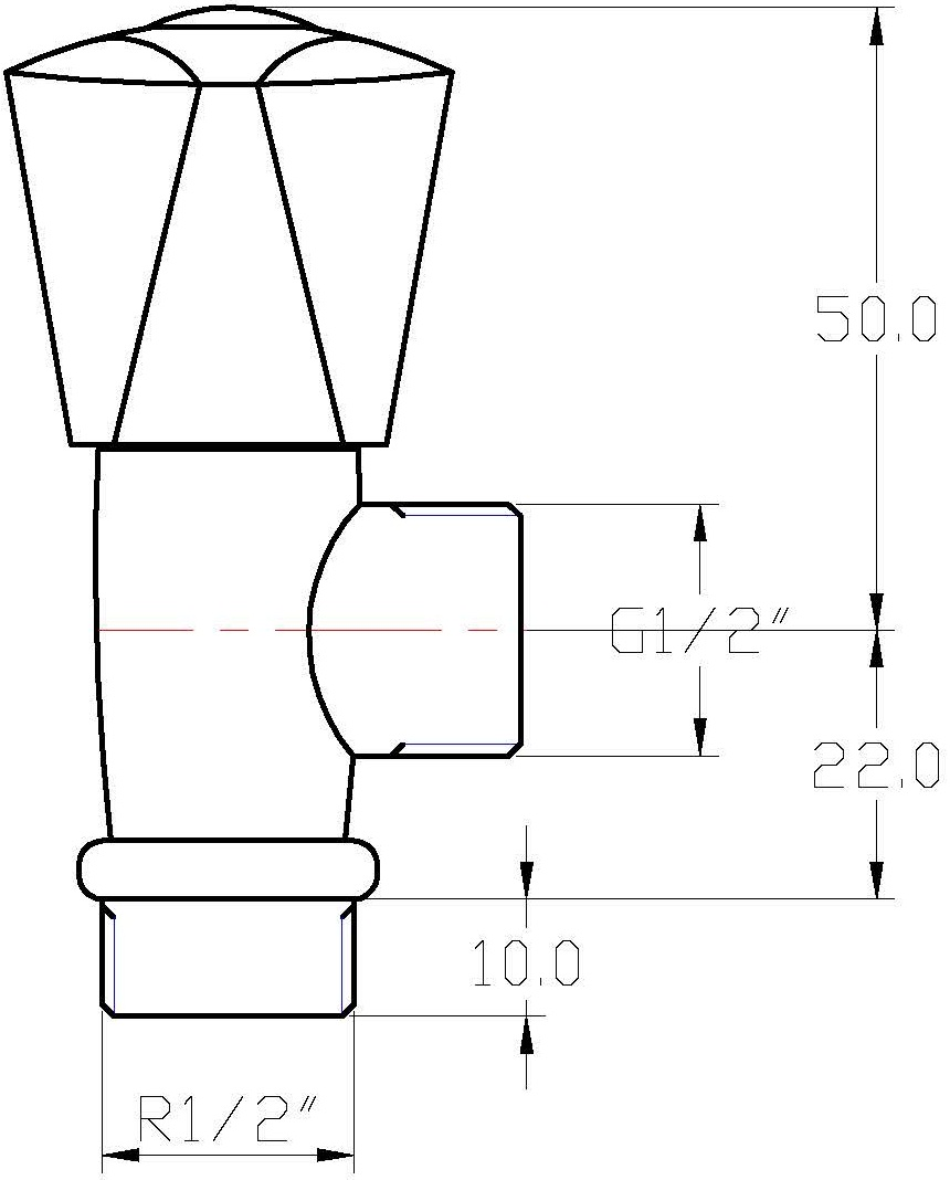 """SV-114 สต็อปวาล์ว 1/2 """""""