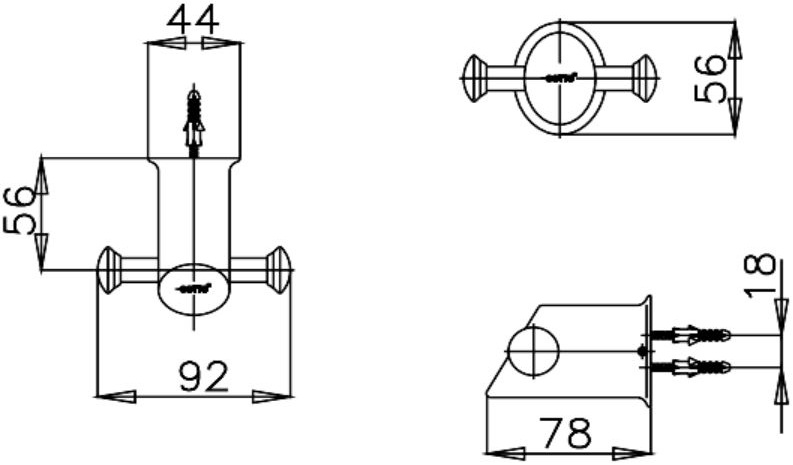 CT0011(HM) ขอแขวนผ้ารุ่นTERRANOVA - COTTO