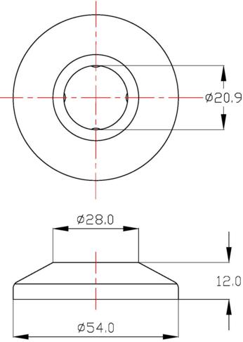CV-001 แป้นครอบกำแพงสต๊อปวาล์วแบบนูน