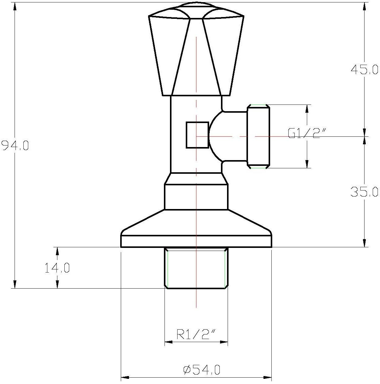 """SV-111 สต็อปวาล์ว 1/2"""""""