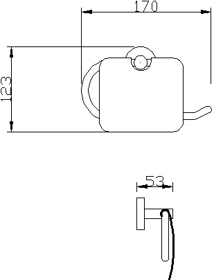 RD 8833(S) ที่ใส่กระดาษชำระ รุ่น PAULA