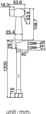 FXHOY-0026PZ ชุดหัวฉีดชำระทรงกลมสีขาว+ชมพู+สายพลาสติกสีขาว รุ่น FANCY