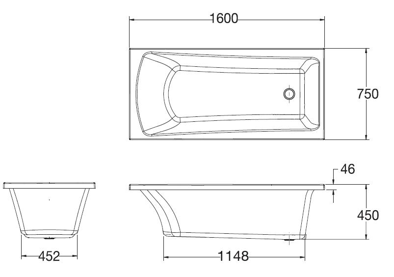 K-45970X-F58-WK อ่างอาบน้ำ รุ่น VALENCIA 1600