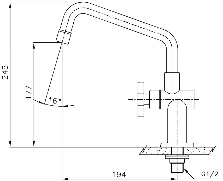 WS-0831 C Vòi chậu rửa đơn Bộ đếm mô hình TRIO