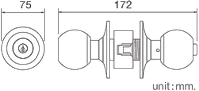 HG445-DOOR ลูกบิดประตูสำหรับห้องน้ำ - HOY