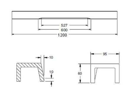 K-37076X-0 ธรณีประตู แบบตรงสีขาว คอนเทม ขนาด 1200 X 60  มม.