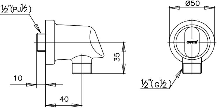 CT600(HM) SHOWER OUTLET