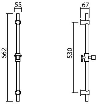 MPL-02 ชุดราวเลื่อน ยาว 65 ซม.