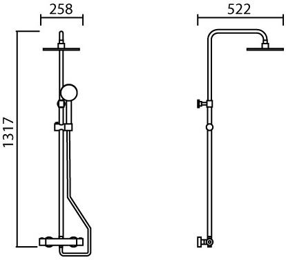ML-ST001 ชุด RAIN SHOWER ระบบเทอร์โมสตัท และ ฝักบัวสายอ่อนครบชุด ปรับน้ำ 1 ระดับ