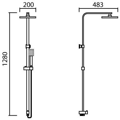 ML-MD7102 ชุด RAIN SHOWER พร้อม ฝักบัวสายอ่อนครบชุด ปรับน้ำ 1 ระดับ และสายต่อเข้าก๊อก (ไม่รวมวาล์ว)