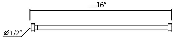 MF-16 สายน้ำดีสีขาว 16 นิ้ว