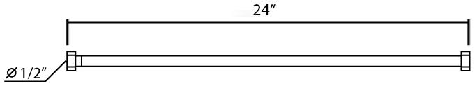 MF-24 สายน้ำดีสีขาว 24 นิ้ว