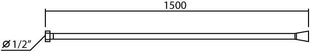 DL6102 สายฝักบัวลายเรียบ ยาว 150 ซม.