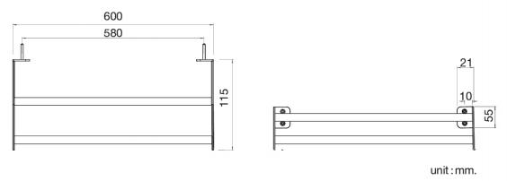 FBVHY-G101BSราวแขวนผ้า 2 ชั้นขนาด600MM.เกรด201 HOY ผิวซาติน รุ่น SKIN