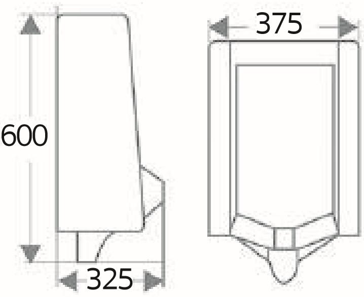 ECU-01-211-11 โถปัสสาวะชาย แบบติดผนัง