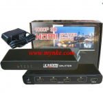 HDMI 41     HDMI Splitter 1 x 4 เข้า1 ออก4 Support 3D High Resolution 1080P ( Black )