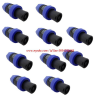 speakon10p blue     ปลั๊กสเป็คคอนต่อลำโพง Speakon Male Plug Compatible Audio Cable Connector (10 Pcs)