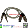 1/4 TRS*2 to 2FXLR     สายสัญญาณเสียง1เมตร ชีลคู่1/4 TRS*2 to 2XLR Female Cable FOR PA. AUDIO