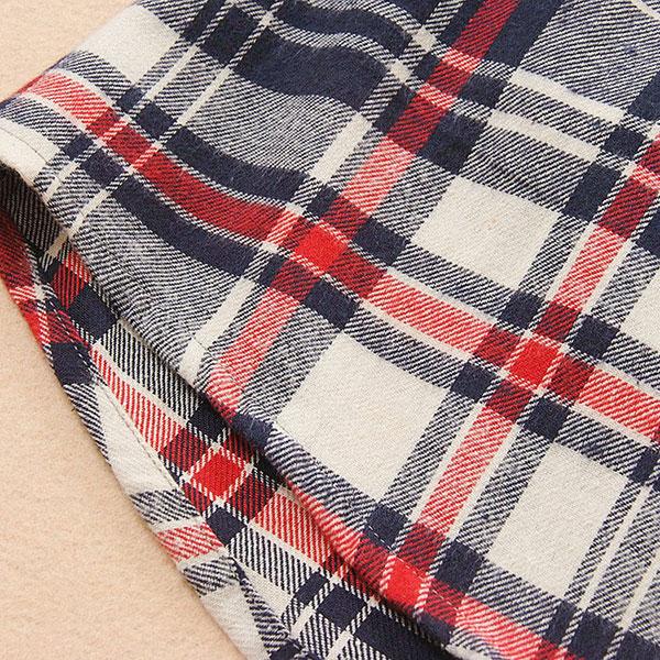 เสื้อแจ็คเก็ตแขนยาว มีฮู้ด ผ้าทอนิ่มลายสก็อต