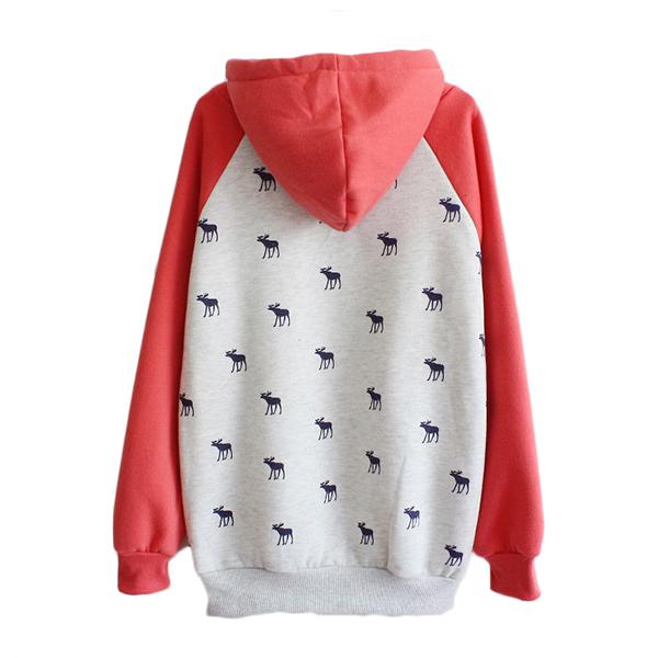 เสื้อกันหนาว เสื้อสเวตเตอร์กันหนาวมีฮู้ด สกลีนลาย ABERCROMBIE