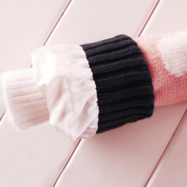 เสื้อโค้ทกันหนาวเกรดพรีเมี่ยม ไหมพรมถักลายหมี ซับขนแกะหนานุ่ม