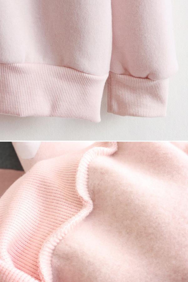 เสื้อกันหนาว เสื้อสเวตเตอร์แขนยาวลายแกะน้อย ซับผ้าสำลีเต็มตัว