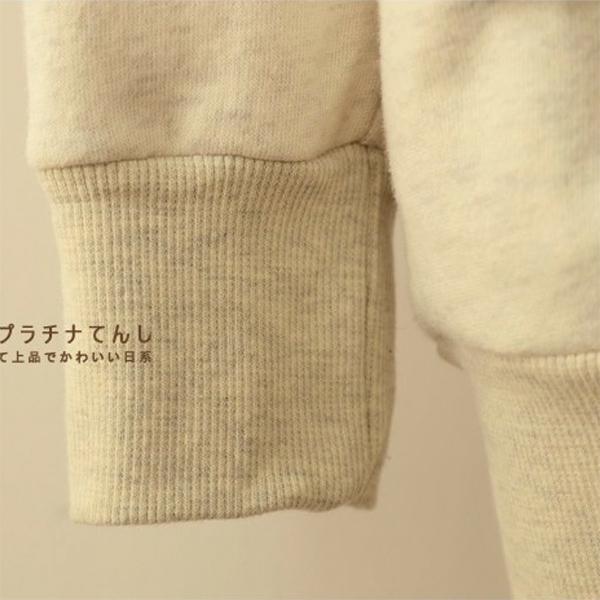 เสื้อสเวตเตอร์กันหนาวแต่งปักไหมพรม ฮู้ดแต่งหูกวางน่ารัก