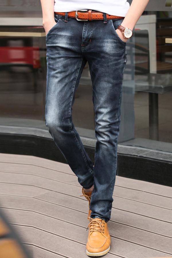 กางเกงยีนส์ฟอกสีผ้าเนื้อนิ่ม (11322MM)