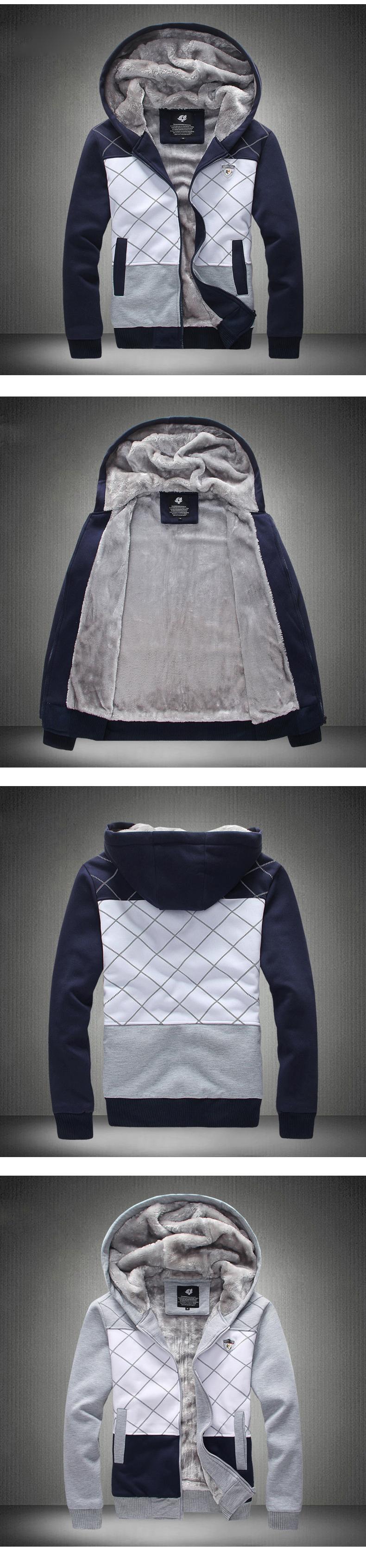 เสื้อกันหนาวแต่งฮู๊ด บุขนนุ่ม รุ่น 11343MM