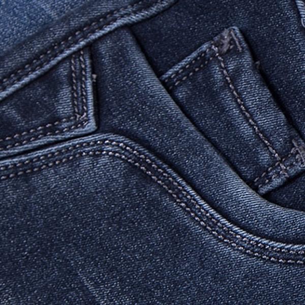 กางเกงยีนส์กันหนาวรุ่นหนา ซับกำมะหยี่ ขายาว ทรงสลิม