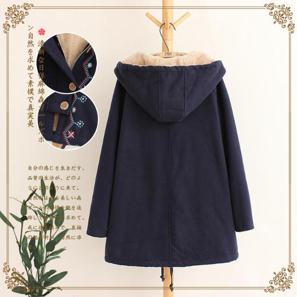 เสื้อแจ็คเก็ตกันหนาวผ้าแคชเมียร์ มีฮู้ด บุขนนุ่มเต็มตัว แฟชั่นญี่ปุ่น