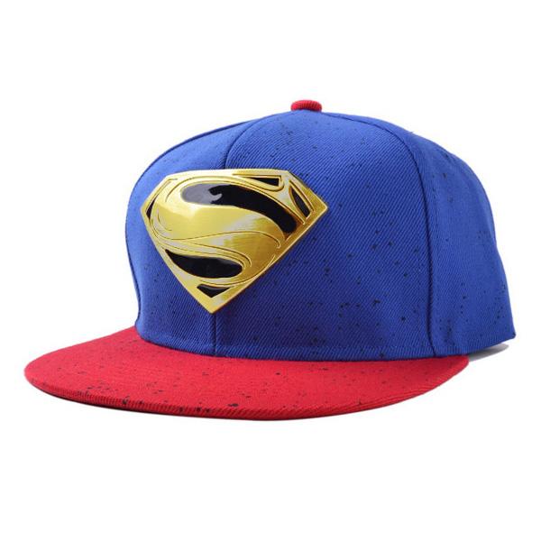 หมวกแก๊ปแต่งแท็กโลหะ SUPERMAN (11140L)