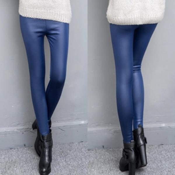 กางเกงหนังกันหนาวลุยหิมะได้ ซับผ้าสำลีเต็มตัว