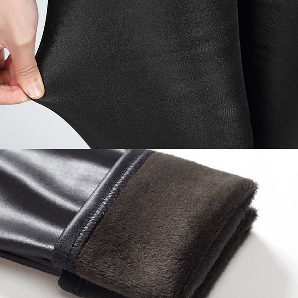 กางเกงหนังรุ่นหนามีซับกำมะหยี่ กันหนาวลุยหิมะได้