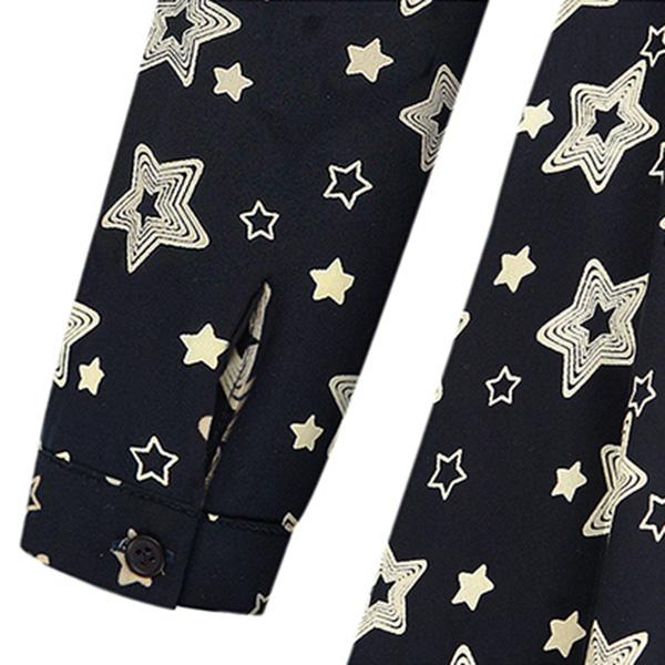 เดรสแฟชั่นผ้าทอลายดาว เอวจั๊ม แขนยาวแต่งสแนป