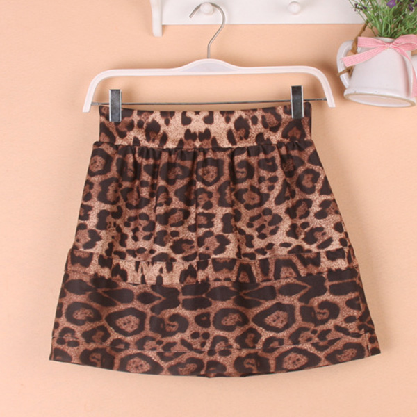 กระโปรงสั้น กระโปรงแฟชั่นผ้าทอนิ่มลายเสือ มีซับเต็มตัว ChuViVi แท้