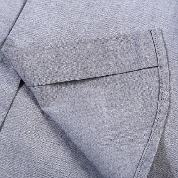 เสื้อเชิ้ตผู้ชาย ทรงสลิม แขนยาว ผ้าทอนิ่มปักลาย