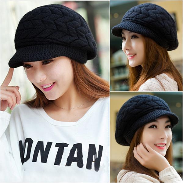 หมวกไหมพรม หมวกกันหนาว หมวกปิดหู