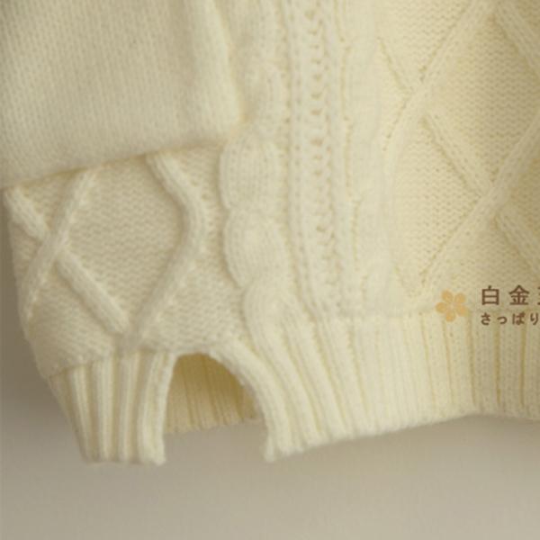เสื้อกันหนาว เสื้อสเวตเตอร์คอพับใหญ่ ตัวยาว ไหมพรมนิ่มถักลายนูน